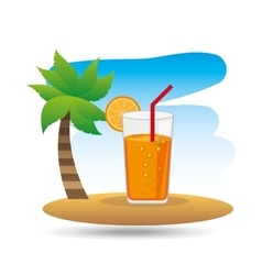 tropical vacation beach cocktail bar vector image
