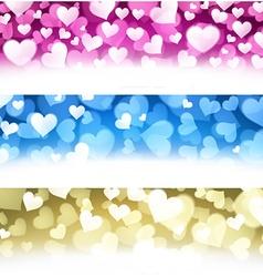 Valentine backgrounds set vector image