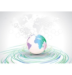 world map backgrond vector image