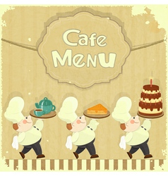 Cafe Menu Card in Retro style vector image vector image