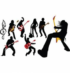 musicians guitarist vector image vector image