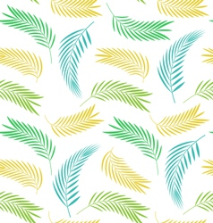 Seamless Background with Leaves of Palm Tree vector image vector image