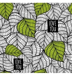 Seamless pattern with natural leaves vector image vector image
