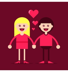 Young couple in love art vector image