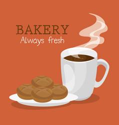 bakery shop label icon vector image vector image