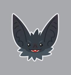 bat sticker emoji of cute vector image vector image