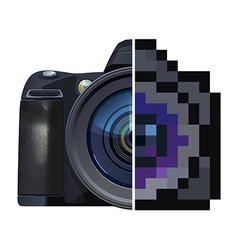 Digital single-lens reflex camera vector image vector image