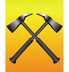 fire axes formed a cross vector image vector image