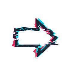 glitch distortion frame arrow vector image vector image