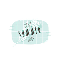 hand drawn abstract summer time fun vector image