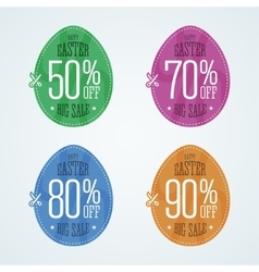 Happy Easter sale coupons vector image vector image