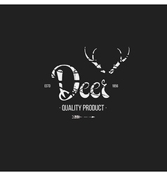 Label in hand draw style black vector image vector image