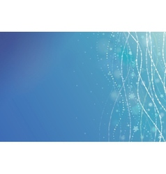 Magical underwater bubbles horizontal background vector image