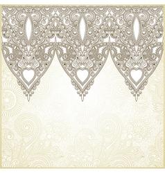 Ornamental seamless stripe decorative element vector image vector image