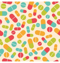 Pills collection Medical pills and capsules vector image