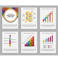 Set Infographics for education brochures and vector image