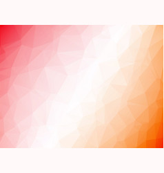 abstract geometric orange white red triangular vector image