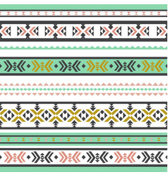 abstract seamless pattern with geometric tribal vector image