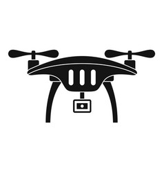 action camera drone icon simple style vector image