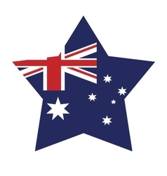 Australian flag shape star icon vector