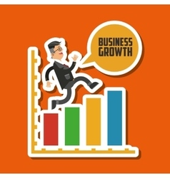 Business growth graphic design vector image