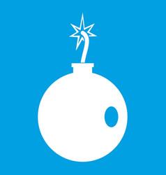 Cannonball icon white vector