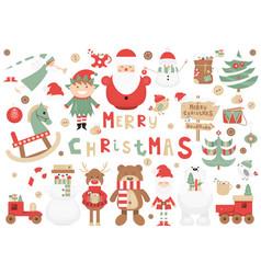 Christmas clip arts vector