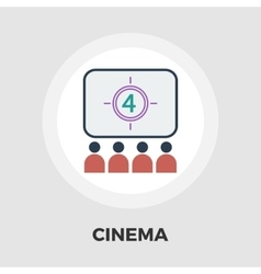 Cinema flat icon vector