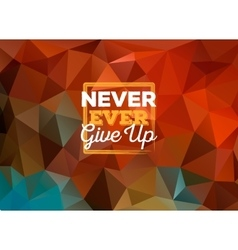 Colorful triangular background with frame and vector image