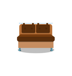 comfortable kitchen sofa on white background vector image