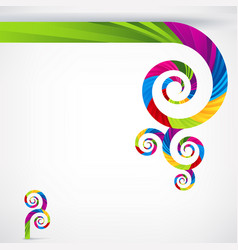 creative abstract rainbow template background vector image