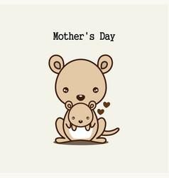 Cute animals for mothers day vector