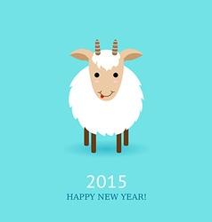 cute goat symbol of 2015 vector image