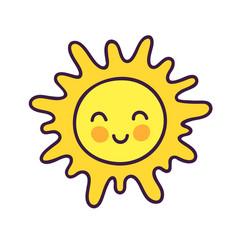 cute happy sun c vector image
