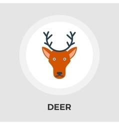 Deer flat icon vector image