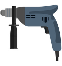 Drill icon hand power machine electric tool vector