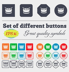 drum icon sign Big set of colorful diverse vector image