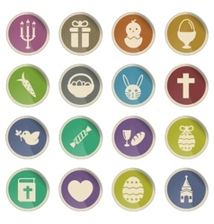 Easter day simply icons vector image vector image