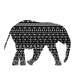 elephant with pattern print tribal vector image