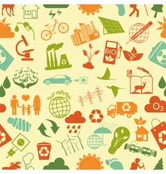 Environment ecology seamless pattern Environmental vector image