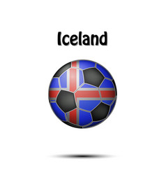 flag of iceland in the form of a soccer ball vector image