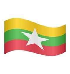 Flag of Myanmar waving vector image