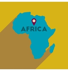 Flat web icon with long shadow africa vector