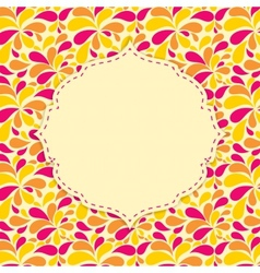 Floral Background with Flowers and Place for your vector image