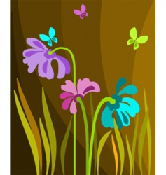 floral seasonal background vector image
