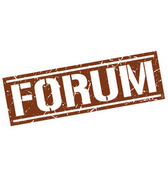 Forum square grunge stamp vector