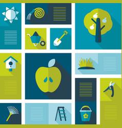 garden farm icons set vector image