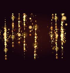 golden bokeh sparkle glitter lights luxury vector image