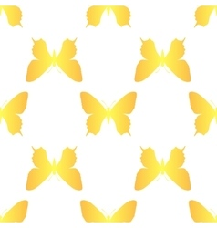 golden butterfly seamless vector image