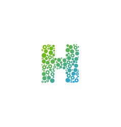 h particle letter logo icon design vector image
